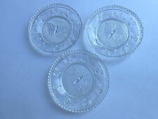 3 Cool Vintage Butterfly Center Lacy Glass Cup Plates