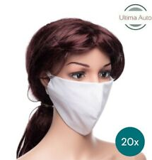 20x White Breathable Fabric Washable Face Mouth Anti Pollution Protection