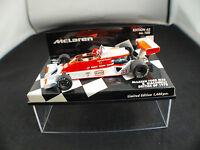 Minichamps F1 Mc Laren Ford M26 Giacomelli Ed 43 n°97 British GP 1978 1/43 MIB