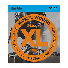 3 Pack! D'Addario EXL140 Bright Round Wound 10-52 Electric Guitar Strings