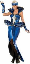Cosmic Queen Space Future Fashion Blue Fancy Dress Up Halloween Adult Costume