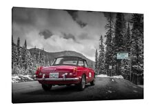 MG Cars - 30x20 Inch Canvas - Framed Picture Print Wall Art