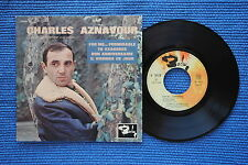CHARLES AZNAVOUR / EP BARCLAY 70518 / LABEL 1 / BIEM 1963 ( F )