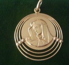 18k gold Virgin Mary vintage one of kind pendant/ Medal Stunning 8.5 Gram.