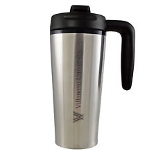 Villanova University -16 oz. Travel Mug Tumbler with Handle-Silver