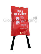 QUALITY QUICK RELEASE LARGE FIRE BLANKET 1M x 1M - FULLY CE APPROVED, RED CASE