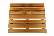 Premium Wooden Bath Mat and Outdoor Wood Shower Floor Extra Large 24 x 24 Inc...
