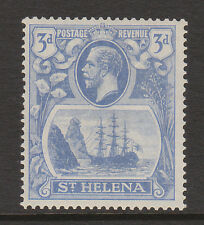 ST HELENA 1922-37 3d WITH CLEFT ROCK SG 101c MINT.