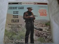 JOHNNY CASH RIDE THIS TRAIN VINYL LP ALBUM 1960 COLUMBIA RECORD GOING TO MEMPHIS