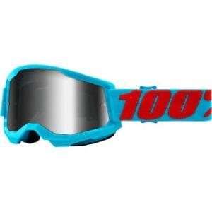 100 Percent 100% Strata 2 Goggle - Summit - Silver Mirror - 50421-252-08 - MX