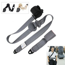 SECURE 3Point Car Front Seat Belt Buckle Kit Automatic Retractable Safety Straps