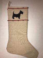 Christmas Holiday Scottish Terrier Scotty Dog Pet Stocking