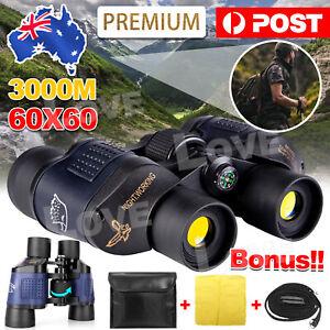 60X60 Day/Night Vision Binoculars Telescope Coordinates 3000M Waterproof Travel