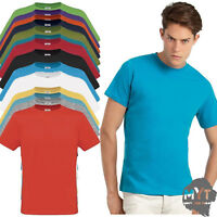 Mens T Shirts 100% Cotton Plain Short Sleeve Tee Basic T Shirt Crew Neck Top
