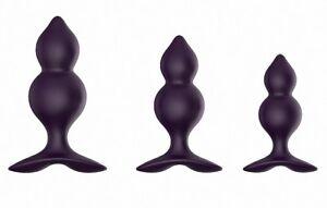 Silicone Jiggle Ball Anal Butt Plugs Set of 3 Adult Sex Toys Prostate Massage UK