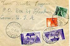 1947 AVV.REPUBBLICA £.5 x 2 + DEM.£.1 e £.4 ann.ROTELLO, 20.07.47 x USA (226020)