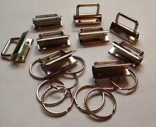 10 x Klemmschließe (Rohling) 3 cm + Schlüsselring Schlüsselanhänger Klemme