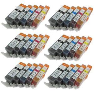 30 Pack PGI-220 CLI-221 Ink Cartridge for Canon PIXMA MP560 MP620 MP640