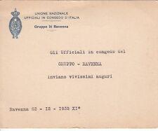8708) RAVENNA, 1932, UNIONE NAZIONALE UFFICIALI IN CONGEDO D'ITALIA.