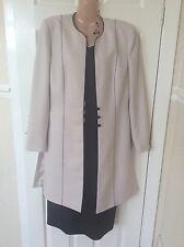 Condici Wedding Black/cream Dress/jacket Size 12 Worn Once Hol 29/8 To 6/9