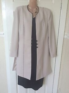 Condici Wedding Black/cream Dress/jacket Size 12 Worn Once Hols 5/6 To 15/6