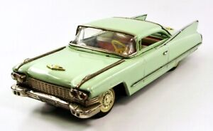 """1960 Cadillac DeVille Coupe 11.5""""  (29 cm) Japanese Tin Car by IY-Marusan NR"""