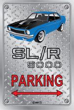 Parking Sign - Metal - Holden Torana SLR 5000 BLUE-  ORIGINAL RIMS