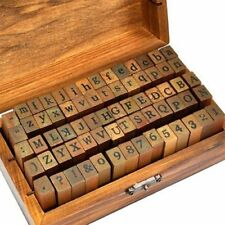 70pcs alphabet stamps vintage wooden rubber letter number and symbol stamp set