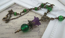 VINTAGE VICTORIAN STYLE THISTLE FLOWER NECKLACE CELTIC