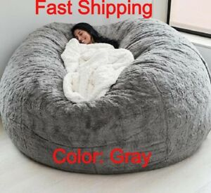 Large Bean Bag Chair Sofa Cover Living room furniture 7 ft giant Micro suede