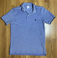 Mens Brooks Brothers 100% Cotton Slim Fit 346 Blue Performance Polo Shirt Medium