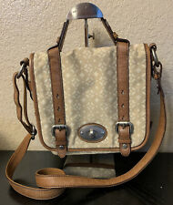 FOSSIL MADDOX Leather/Fabric Messenger Crossbody Shoulder Bag Traveler Purse