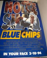 ROLLED 1994 BLUE CHIPS MOVIE POSTER NICK NOLTE SHAQ SHAQUILLE O'NEAL BASKETBALL