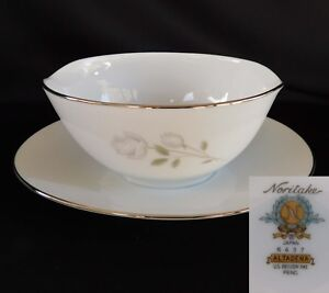 Noritake Altadena GRAVY BOAT with UNDERPLATE  have many more items from this set