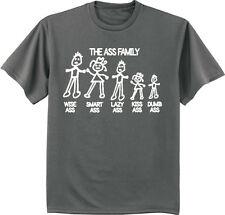 funny shirts for men the Ass Family sticker decal tee shirt men's clothing gift