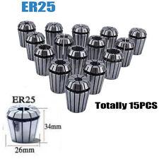 ER25 2mm-16mm Precision Spring Collet Set For CNC Milling Lathe Tool 15Pcs Kits