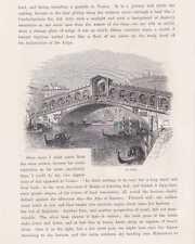 Venedig Rialtobrücke Ponte di Rialto Venezia HOLZSTICH um 1880 Venice