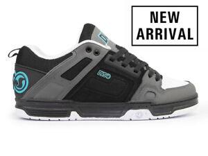 Mens DVS Comanche Skateboarding Shoes NIB Black Charcoal Turquoise