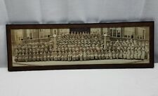 Vintage Antique Panoramic Picture Photograph Wood Glass Frame 1925 Lebanon PA