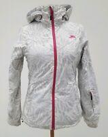 Ladies Ski Jacket XS  TRESPASS White Grey TP50 1000MM Luxe Snow Coat
