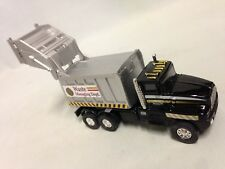 """City Garbage Waste Disposal Truck 6.25"""" Diecast Pull Back To Go Toy Black"""