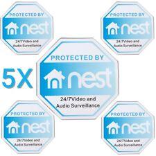 5pcs Nest Video Doorbell Sticker Security Warning Decal External Safety Sign