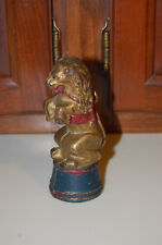 """CAST IRON """"LION ON TUB, DECORATED"""" STILL BANK MADE BY A.C. WILLIAMS"""