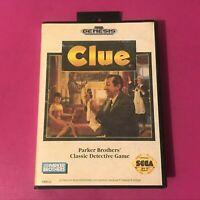 Clue - Sega Genesis Cartridge Case and Manual