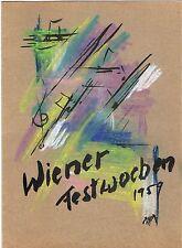 Programmheft Wiener Festwochen 1959 mit original sign. Pastellzeichnung