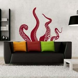 Kraken / Octopus Tentacles Vinyl Wall Art Decal - Choose Any Color Sticker N175
