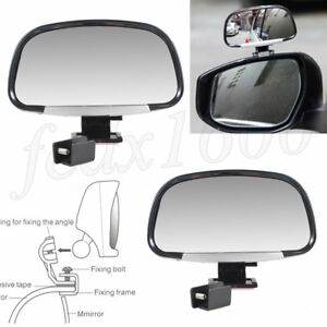 2x Universal Car Door Blind Spot Mirror Side Rear View Wide Angle Inspect Mirror