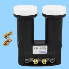 Monoblock Twin LNB 0,1db para 2 receptores recepción Vía Satélite Digital UHD