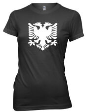 Albanian Flag Albania 2 Headed Eagle Funny Womens Ladies T-Shirt