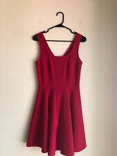 LuLus Fit & Flare Red Sleevless Dress Womens Sz Med Skater A-Line Stretch Party